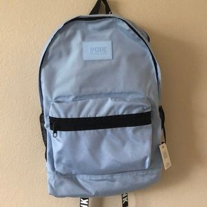 NWT VS PINK LIGHT BLUE CAMPUS BACKPACK
